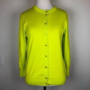 J. Crew Clare cardigan highlighter yellow medium